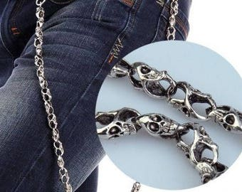 31'' Fashion Chrome Biker Trucker Key chain Jean Wallet Chain Trouser Chain  Punk Skull