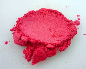 Shine Red / Bright Pink - 1oz = 28.35gr - All natural vegan cruelty free mica - bright pink pigment