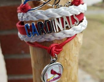 Infinity Love St Louis cardinals bracelet
