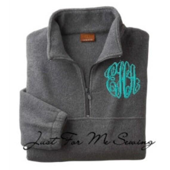 Monogrammed sweatshirt, Monogrammed quarter zip sweatshirt, Monogrammed Pullover Jacket, Monogrammed Quarter Zip Jacket, half zip pullover