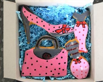 Dante's Fashionista Cookie Box /Healthy Dog Treats /Organic Dog Treats /Dog Cookies /Dog Bakery /Dog Birthday /Dog Biscuits /Dog Gift