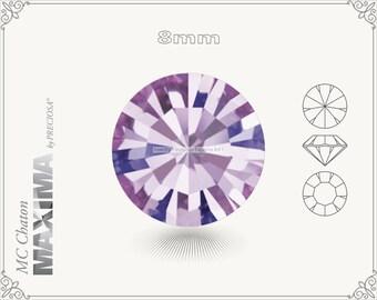 6 pc.+ SS39 (8mm) Preciosa MC Chaton MAXIMA - Light Amethyst Color