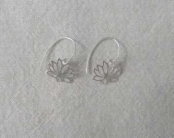 "Silver earrings ""Lotus Flower"""