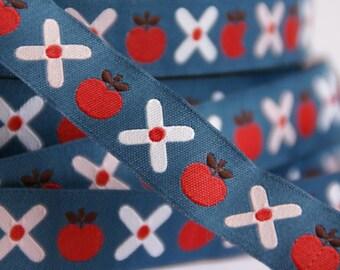 woven ribbon apple&flowers