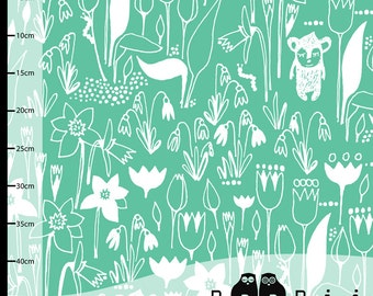 HIPPUS Garten Bio-Jersey knit von PaaPii Design, skandinavische Bio-Jersey, finnische Stoff, Stoff durch den Hof