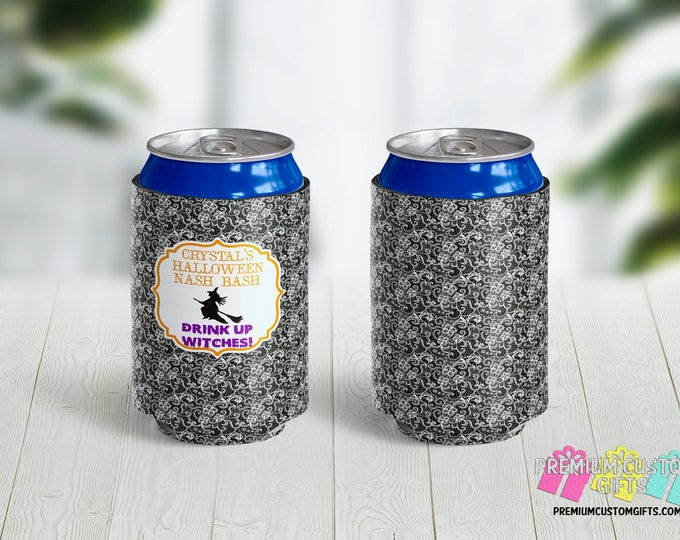 Bride Can Coolers - Personalized Can Cooler - Bridal Party Favors - Can Coolies -  Custom Party Favors - Destination Can Coolers - Bachelor
