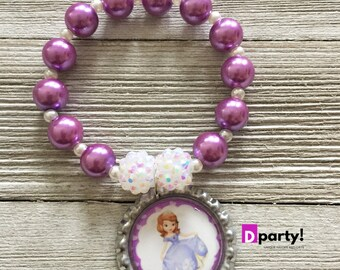 Sofia the First Bracelets Party Favors, Pack of 8, Sofia the First Birthday Party, Sofia the First Jewelry, Sofia the First Favors