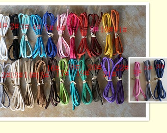 3 mm suede cord, 25 colors