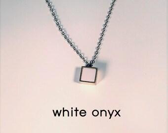 Gemstone Necklace-lapislazuli-black onyx-white onyx-chalcedony blue-malachite green-blue sand-red sand-carnelian-sterling silver necklace