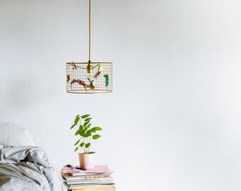 Little Copper Birdcage Pendant Light Chandelier