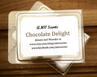 Chocolate wax melt, chocolate wax tart, chocolate scented wax melt