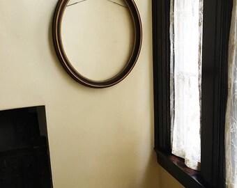 Wood Frame Wood Picture Frame Oval Frame Art Frame Wall Frame Vintage Frame Large Frame Photo Frame Mirror Frame Antique Frame Chalkboard