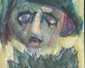 Original ACEO Watercolor Painting- My Monster Teacher