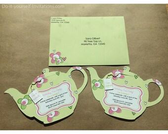 tea invitation template