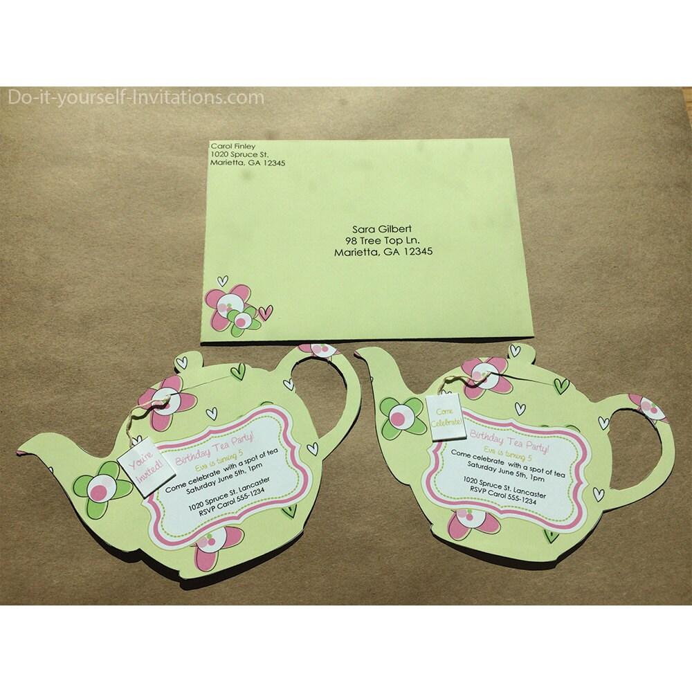 Printable Tea Party Invitation Bridal Tea Party Invitation