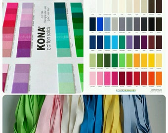 "1/2"" Double Fold KONA bias tape, 3 yards + , skinny quilt Binding, blanket binding, custom color choice"