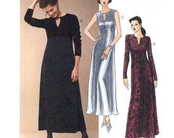 90s Chic dresses evening wear sewing pattern McCalls 9655 Sz 14 to 18 Uncut