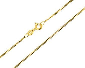 Brand New 9ct Gold Diamond Cut Curb Chain 18'/46cm