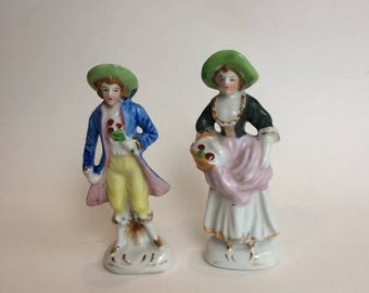 Courting Couple Occupied Japan Porcelain Figurines