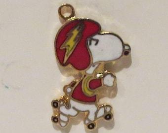 Vintage Snoopy Rollerskating Charm by Aviva