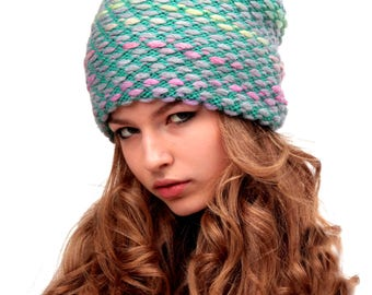 Knit Slouchy Beanie, Hipster beanie, Gift for Her, Oversized Chunky hat, Grunge beanie, Hipster beanie hat, oversized baggy beanie, beanie