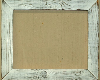 "1-1/2"" Marshmallow Distressed Picture Frame"