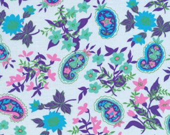 Fabric 'Queen Street' Green Floral by Jennifer Paganelli for Free Spirit 1 Yard