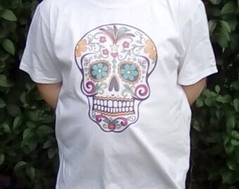 Sugar Skull T-shirt, Kid's T-shirts, Kid's Clothing, Day of the Dead, Skulls, Sugar Skulls