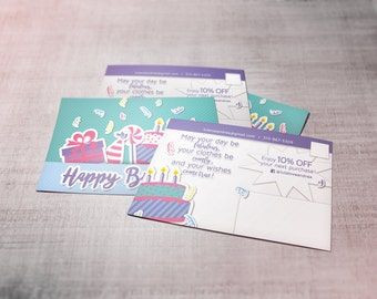 Birthday Discount Postcard - custom to your needs