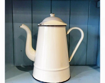 Original French Vintage Goose Neck Coffee Pot