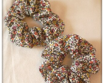 scrunchie in genuine Liberty Eloise plum