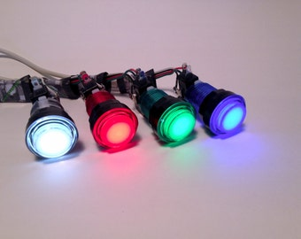 USB Button - Light Up LED Arcade Button - for DIY Photobooth or gaming or anything you can think of