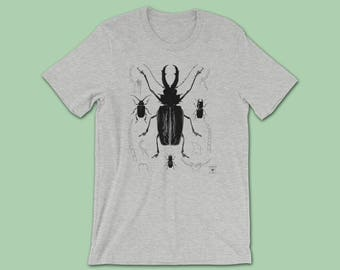 Rhinoceros Beetle Shirt | Entomologist Insect Gift | Bug Shirt | Entomology Insect Lovers | Natural History Nature T-Shirt | Science Gift
