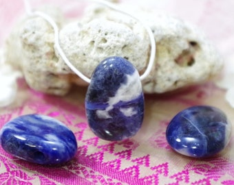 Sodalite natural stone drilled pendant