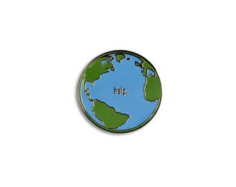 Help Earth Lapel Pin