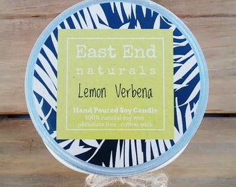 Lemon Verbena Scented Soy Candle (10 oz.)
