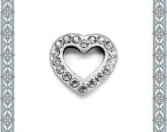 Necklace pendant diamond Heart old silver with 18 Swarovski crystal pendant heart amulet/pendant Gothic amulet Medallion
