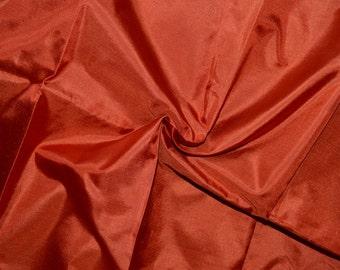 Silk Taffeta in Rofous/ Reddish Brown- Fat quarter -TF 34
