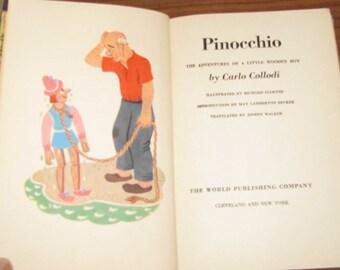 Antique book of Pinocchio stories, 1946