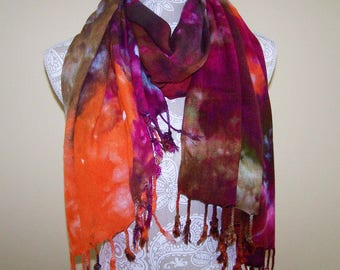 Rayon Challis shawl, rayon scarf, winter wrap