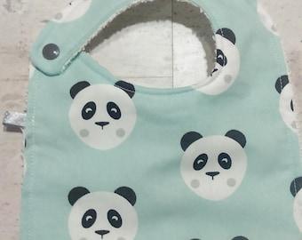 Bib 0-12 months panda pattern