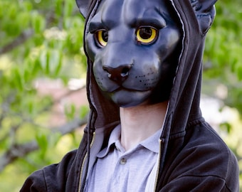 Black Panther Cat Mask