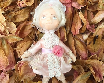 Art Doll - The little Rose. Small Doll. OOAK Doll. Collection Art Doll.