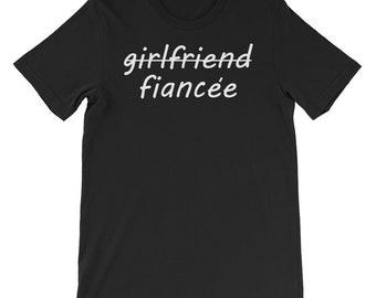 Fianceee Shirt, Engaged, I Said Yes, Future Mrs., Engagement Gift, Bachelorette Party T-Shirt