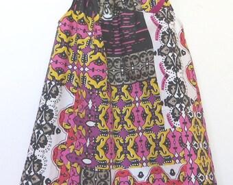 girl was evolving wax cotton dress