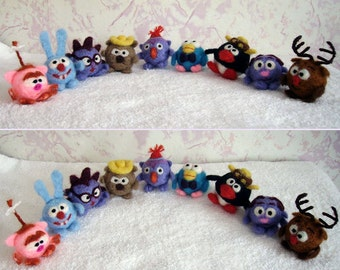 Needle Felted Characters of the Russian Animated Film of Smeshariki