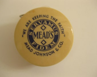Celluloid Mead's Advertising Tape Measure Pablum