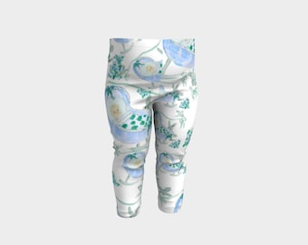 Baby Boy Leggings Toddler Legging Bunny Art Blue and Green Pants Clothing for kids Six months Kids pants Printed leggings Baby Shower Gift