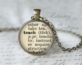 Definition necklace etsy quick view teach dictionary definition aloadofball Image collections