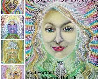 Personal Soul Portrait with Soul Reading -   by Visionary Artist and Angel Intuitive Hayley Mawson Roberts